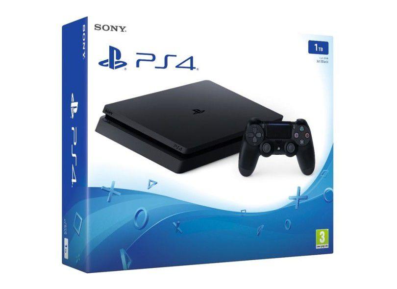 Playstation 4 Slim 1TB Sony 1 Controle  + 5  Jogos