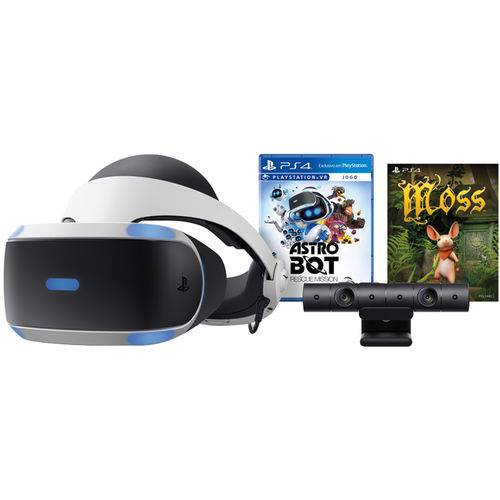 PlayStation VR PS4 Bundle Game Astro Bot Rescue Mission + Moss