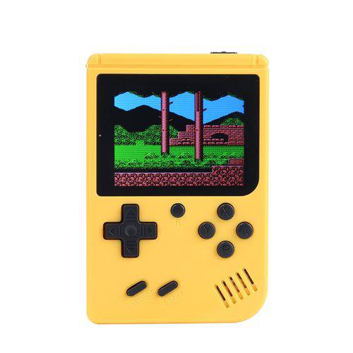 Video Game Portatil 400 Jogos Internos - Mini Game Sup Game Box Plus AMARELO