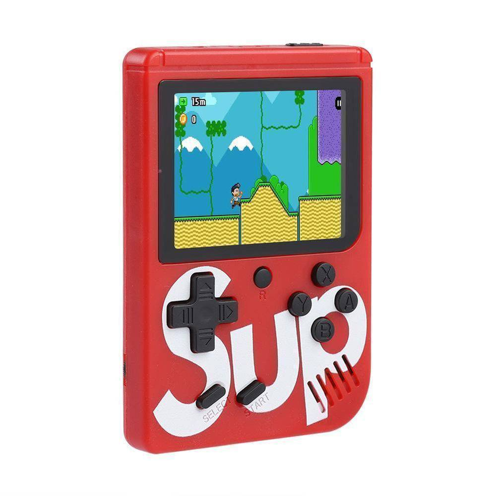 Video Game Portatil 400 Jogos Internos - Mini Game Sup Game Box Plus VERMELHO