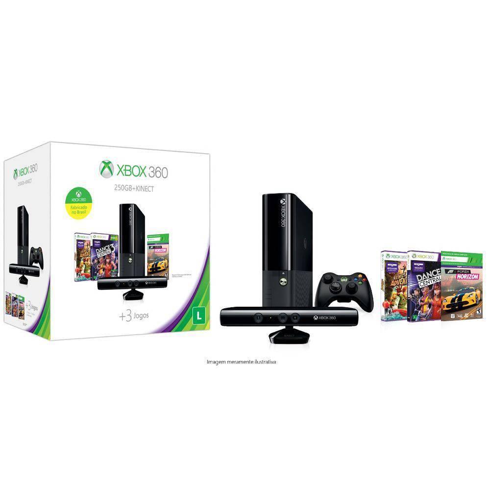 Xbox 360 4 Gb + Kinect  + Joga Na Live