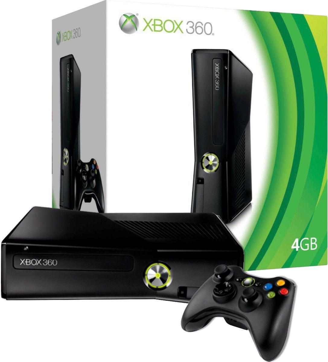 Xbox 360 Slim + 2 jogos