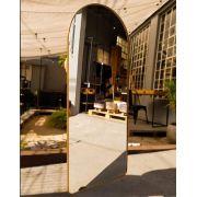 Espelho semi oval com Moldura