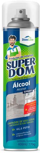 Álcool em Spray Aerosol Super Dom