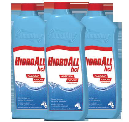 Algicida para Piscina  Hcl Hidroall | Manutenção | Choque