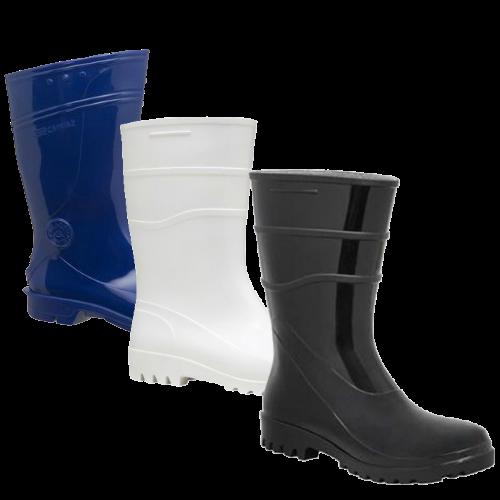 Bota de Borracha | Branca | Preta | Azul | Galocha