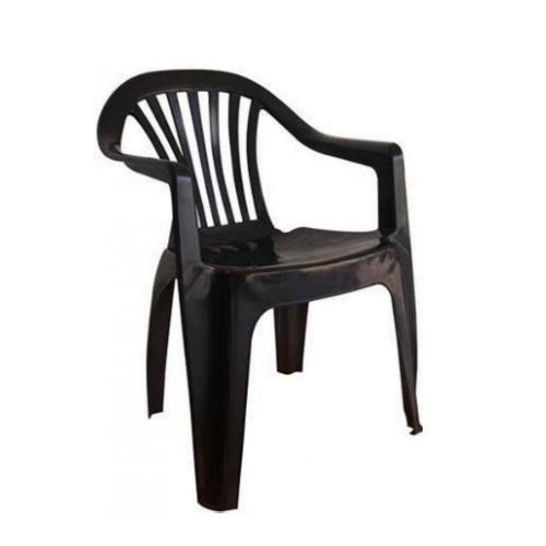 Cadeira Plástica Poltrona Antares Preta