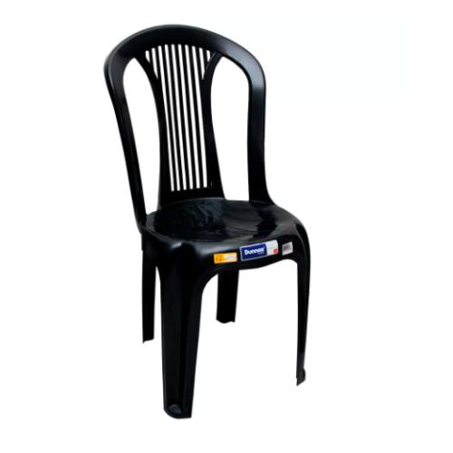 Cadeira Plástica Preta EuroPlast Dunnas