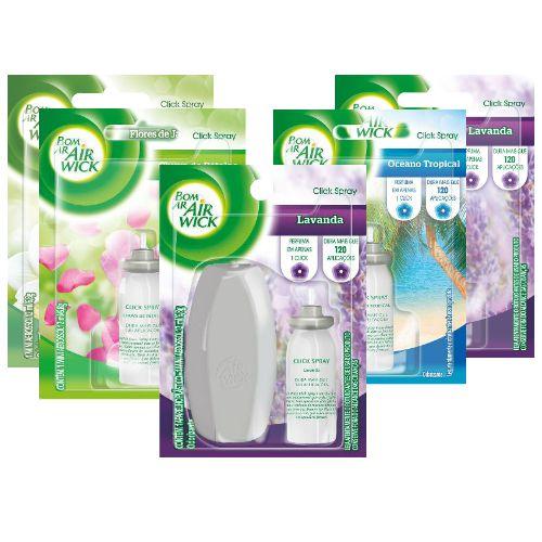 Desodorizador de Ar Bom Ar Air Wick Click Spray