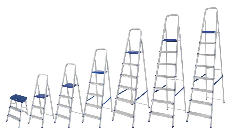 Escada de Alumínio Doméstica Mor- Tamanhos