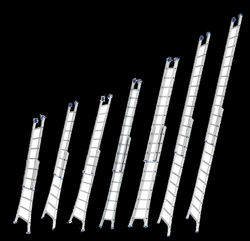 Escada de Alumínio Extensiva Mor- Tamanhos