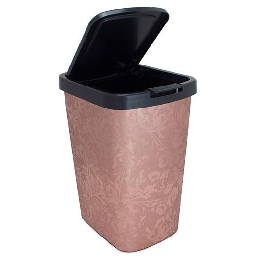 Lixeira Automática Arqplast 9 litros - Plástica - Rose Metalizado