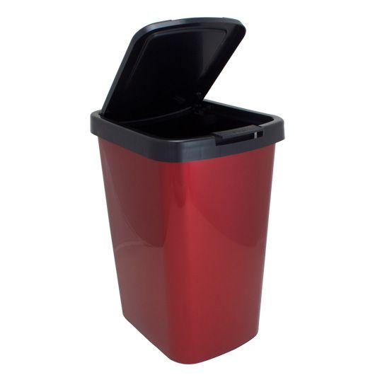 Lixeira Automática Arqplast 9 litros - Plástica - Vermelho Metalizado