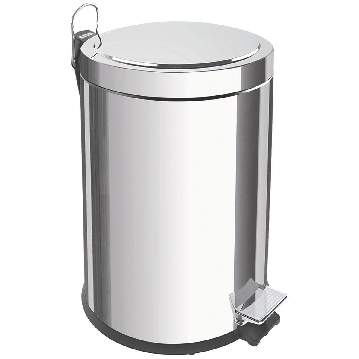 Lixeira Pedal Tramontina Inox -  5 / 12 / 20 / 30 litros