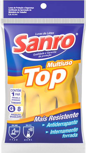 Luva Látex Sanro