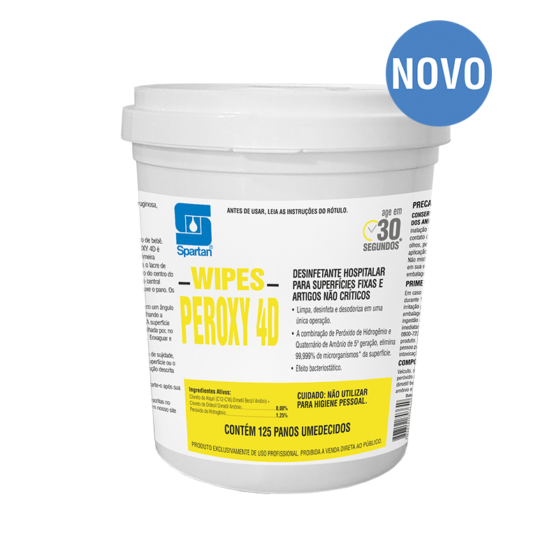 Pano Wipes Peroxy 4D Spartan Bactericida