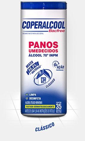 Panos Umidecidos Cooperalcool Bacfree c/ Álcool 70º