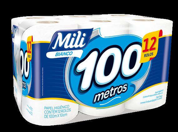 Papel Higiênico Mili | Rolos de 100 metros