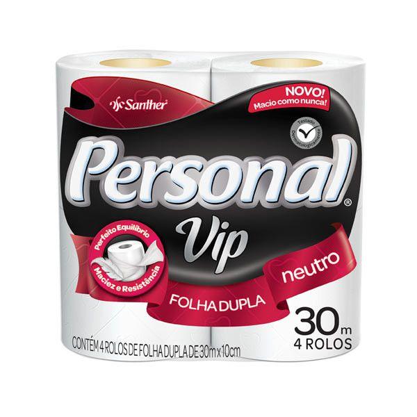 Papel Higiênico Personal Vip | 4 rolos | 12 rolos