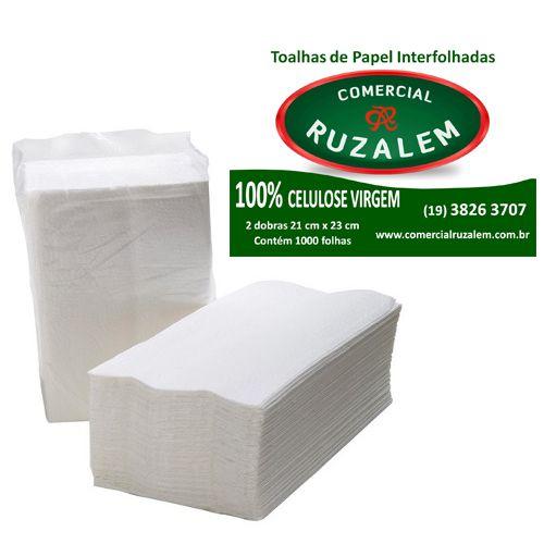 Papel Toalha Interfolhado 100% Celulose Ruzalem