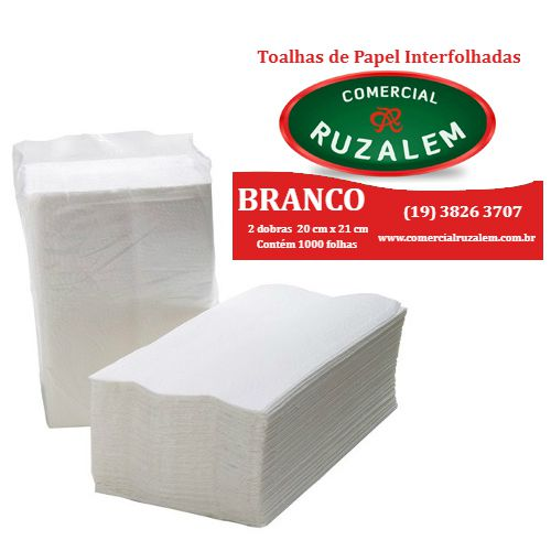 Papel Toalha Interfolhado Branco Ruzalem