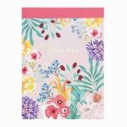 Bloco de Anotações Estampa Floral
