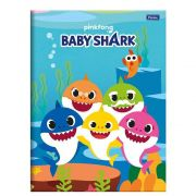 CADERNO BROCH UNIV CD  BABY SHARK 96 FLS