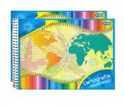 Caderno Cartografia Milimetrado Grande Flex 48fls