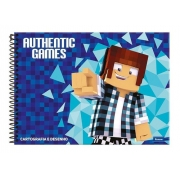 caderno desenho cd Authentic games 96fls