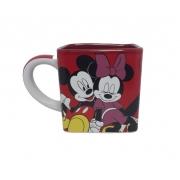 Caneca Cubo Mickey E Minnie Namorados 300ml
