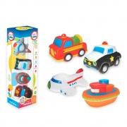 Carrinho Infantil Coleção Transportes Fofinhos Baby em Vinil Lider