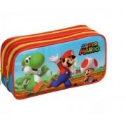 Estojo Infantil Escolar Super Mario - Mario e Amigos Duplo Foroni