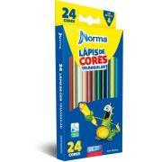 LAPIS DE COR 24 CORES  TRIANG NORMA C/APONTADOR