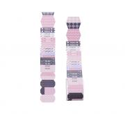 Notas adesivas com formatos diferentes azul e rosa love 2m