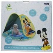 Piscina de Praia Infantil com Cobetura UV Mickey -Zippy Toys