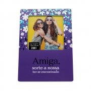 Porta retrato Amiga Sorte - MDA  foto 10x10cm