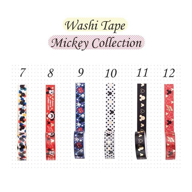 Kit Suporte para Washi Tape com 3 washi tape Mickey e Minnie