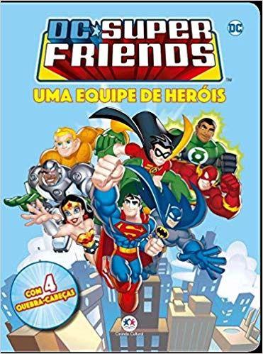 LIVRO QUEBRA CABEÇA DC Super Friends - Uma equipe de herois