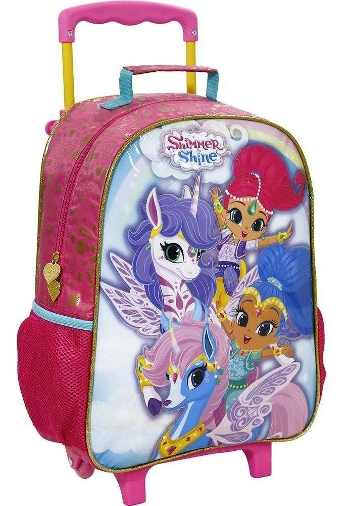 Mochila com Rodas 16 Shimmer Shine Unicorn - 8000