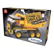 Blocos de Encaixe Cidade em Obras Caçamba 142 pçs - Xalingo Brinquedos