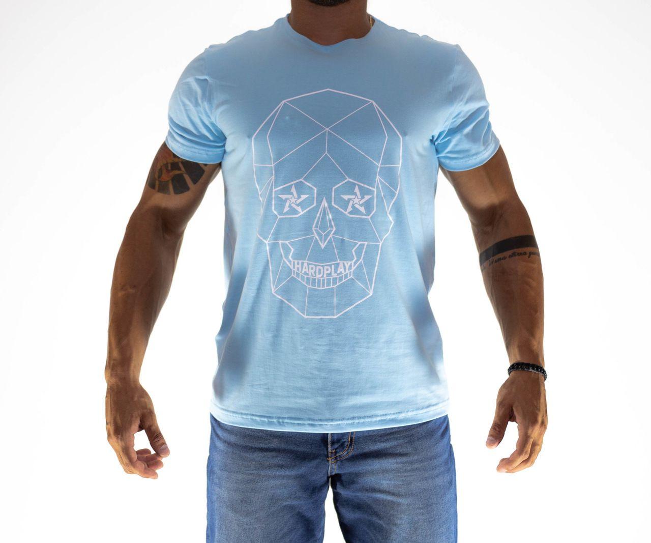 Camiseta HardPlay Caveira Azul Bebê