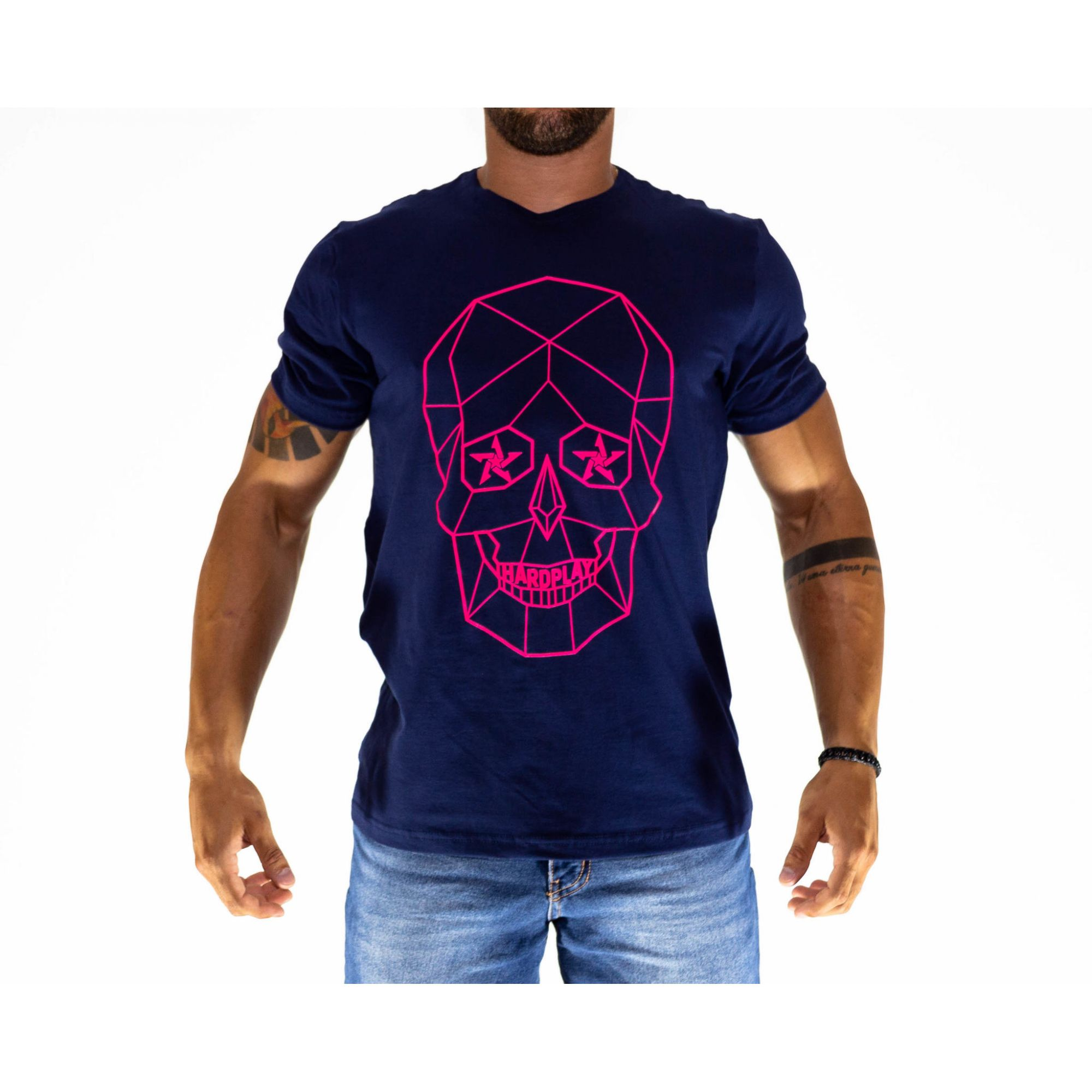 Camiseta HardPlay Caveira Azul Marinho