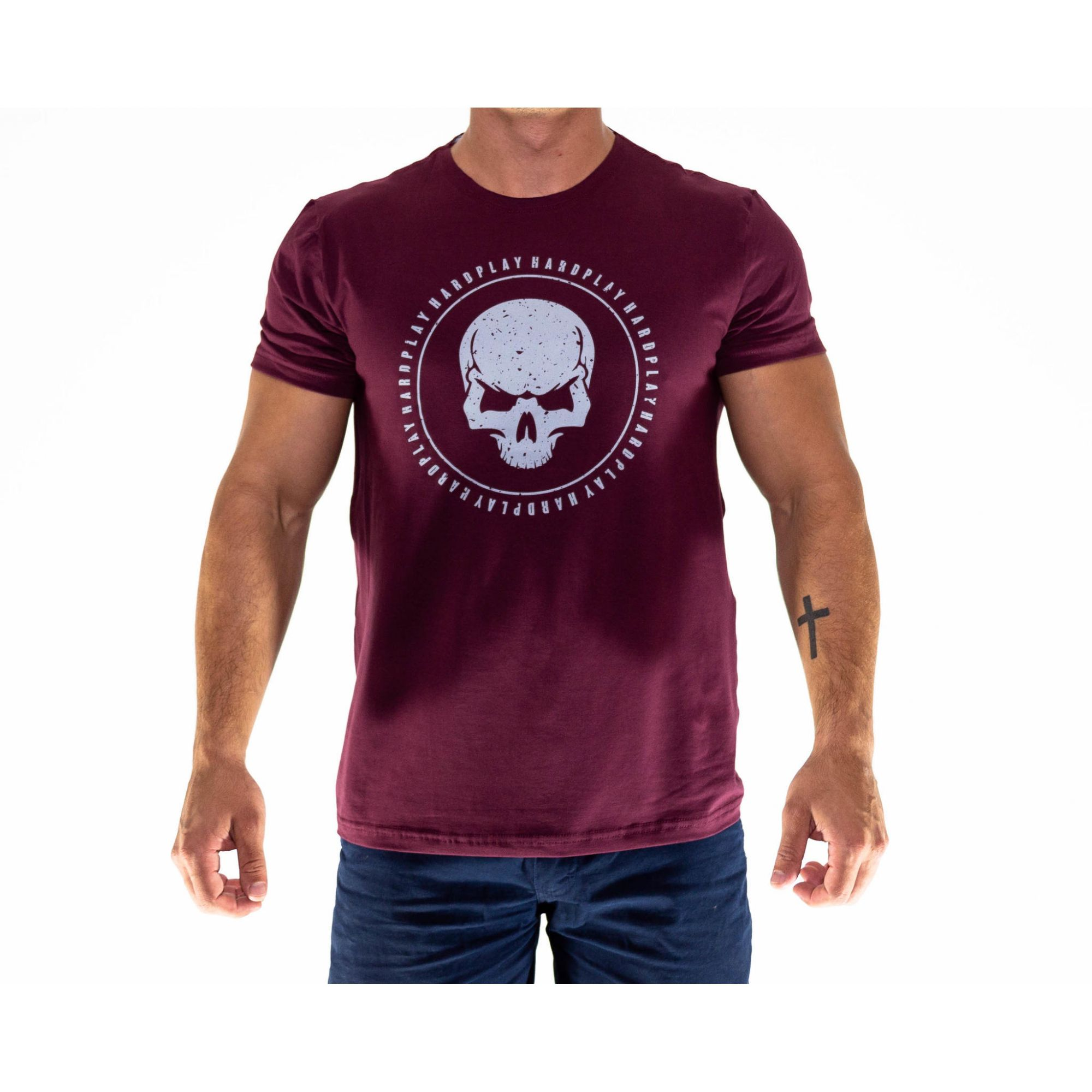 Camiseta HardPlay Caveira Vinho