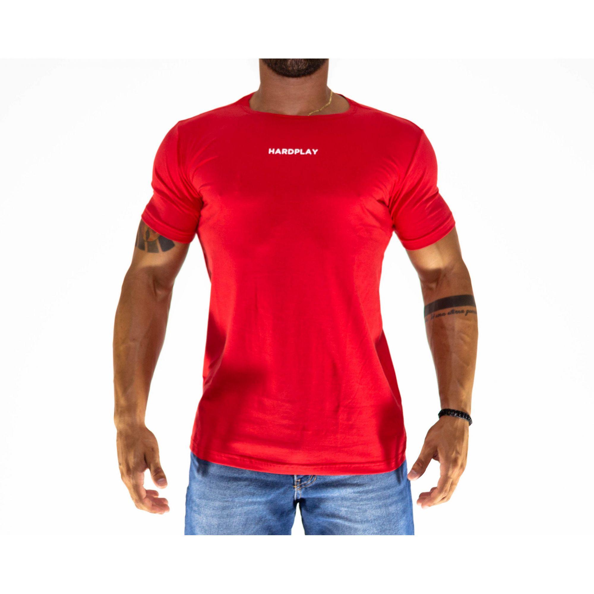 Camiseta HardPlay Basica Vermelha