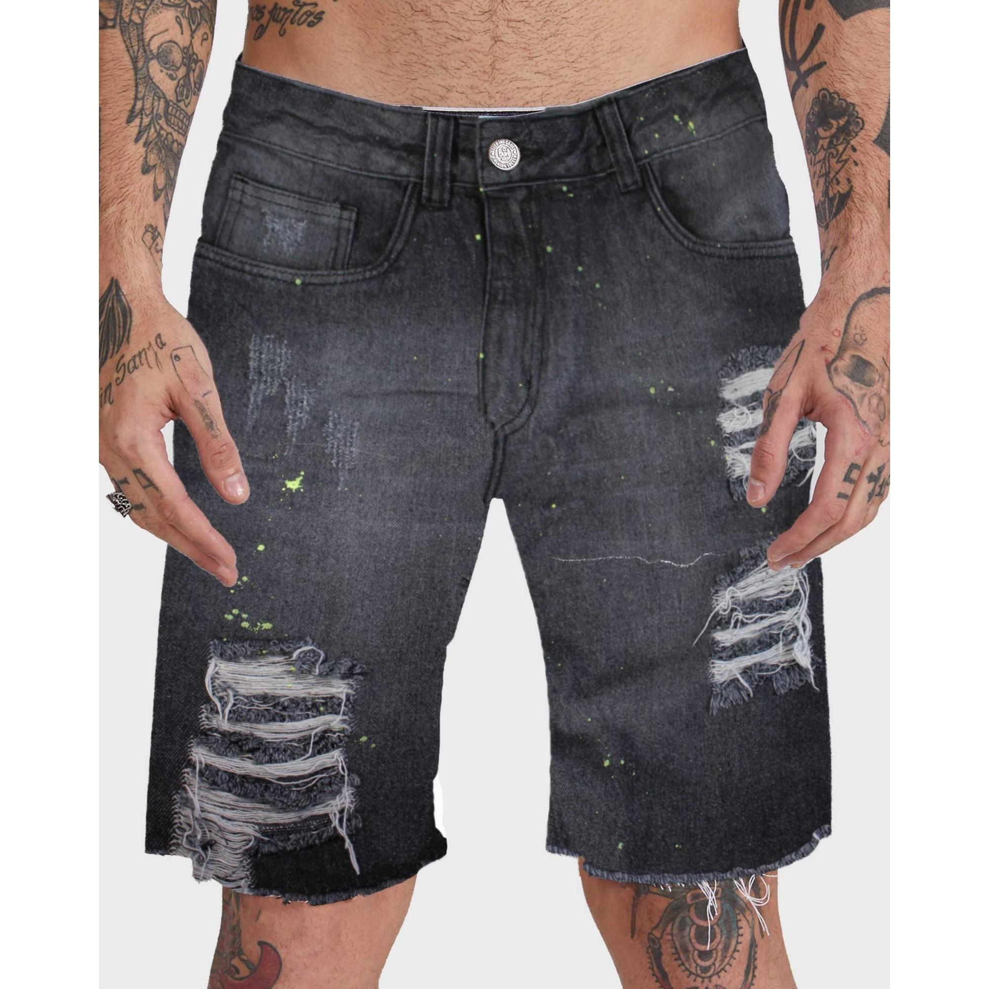 Bermuda Buh Jeans Respingo Black
