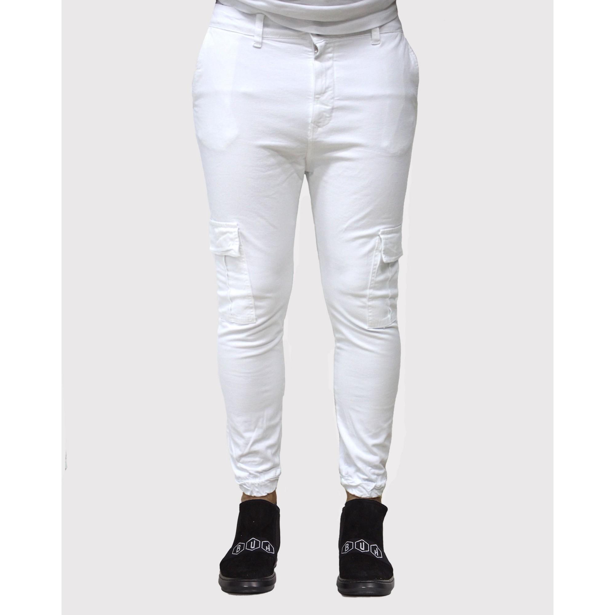 Calça Buh Jogger Cargo White
