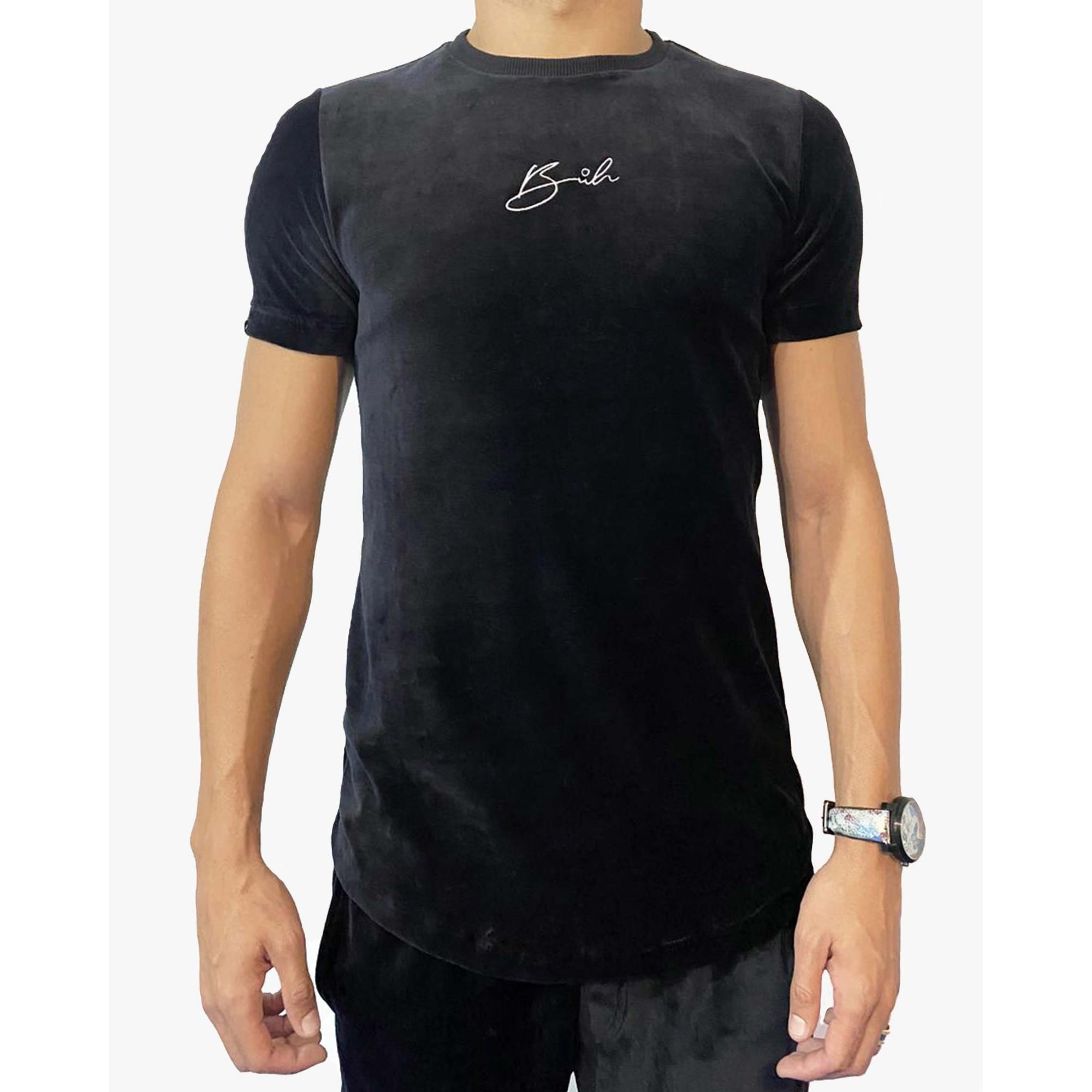 Camiseta Buh Bordado Plush Black