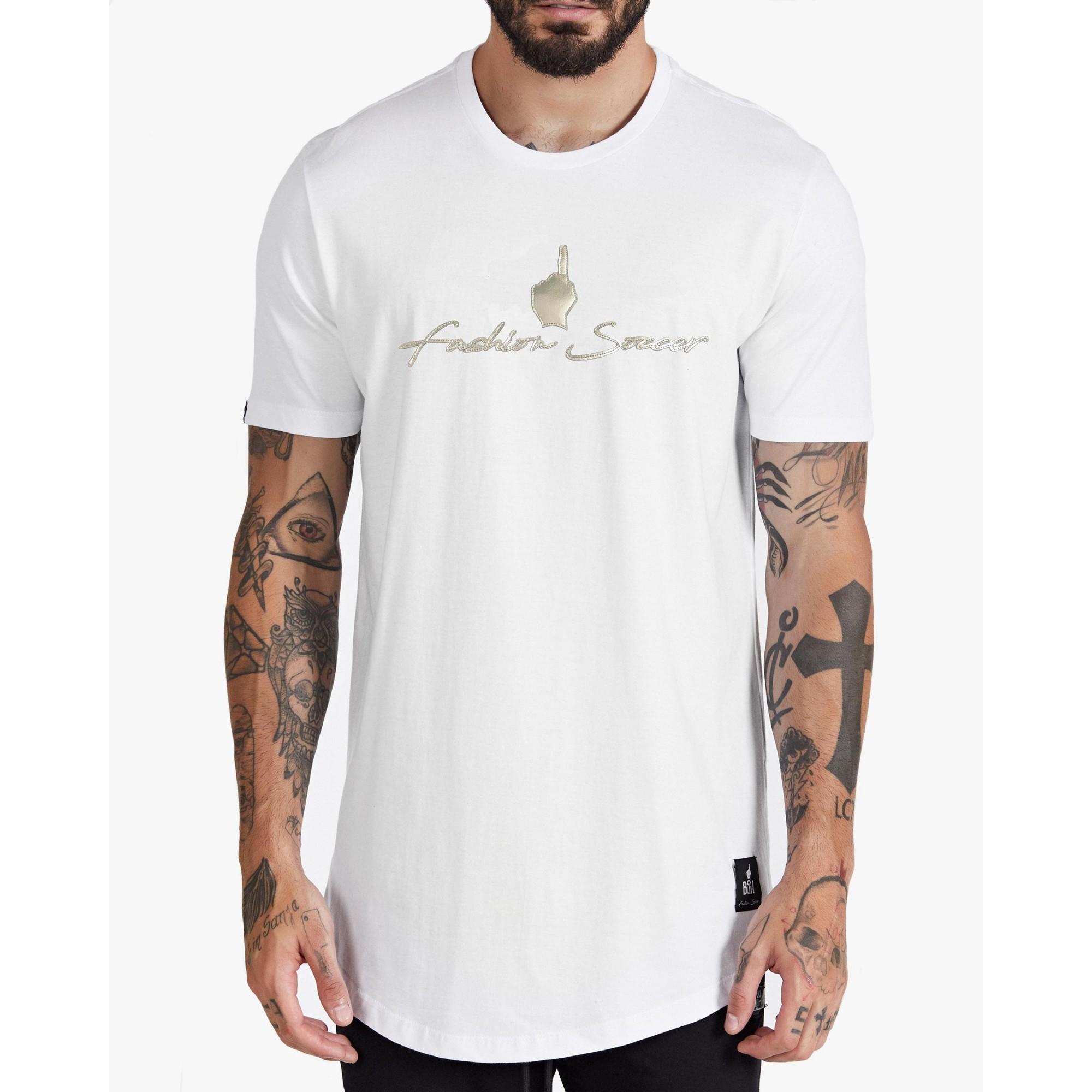 Camiseta Buh Fashion Soccer Penta White
