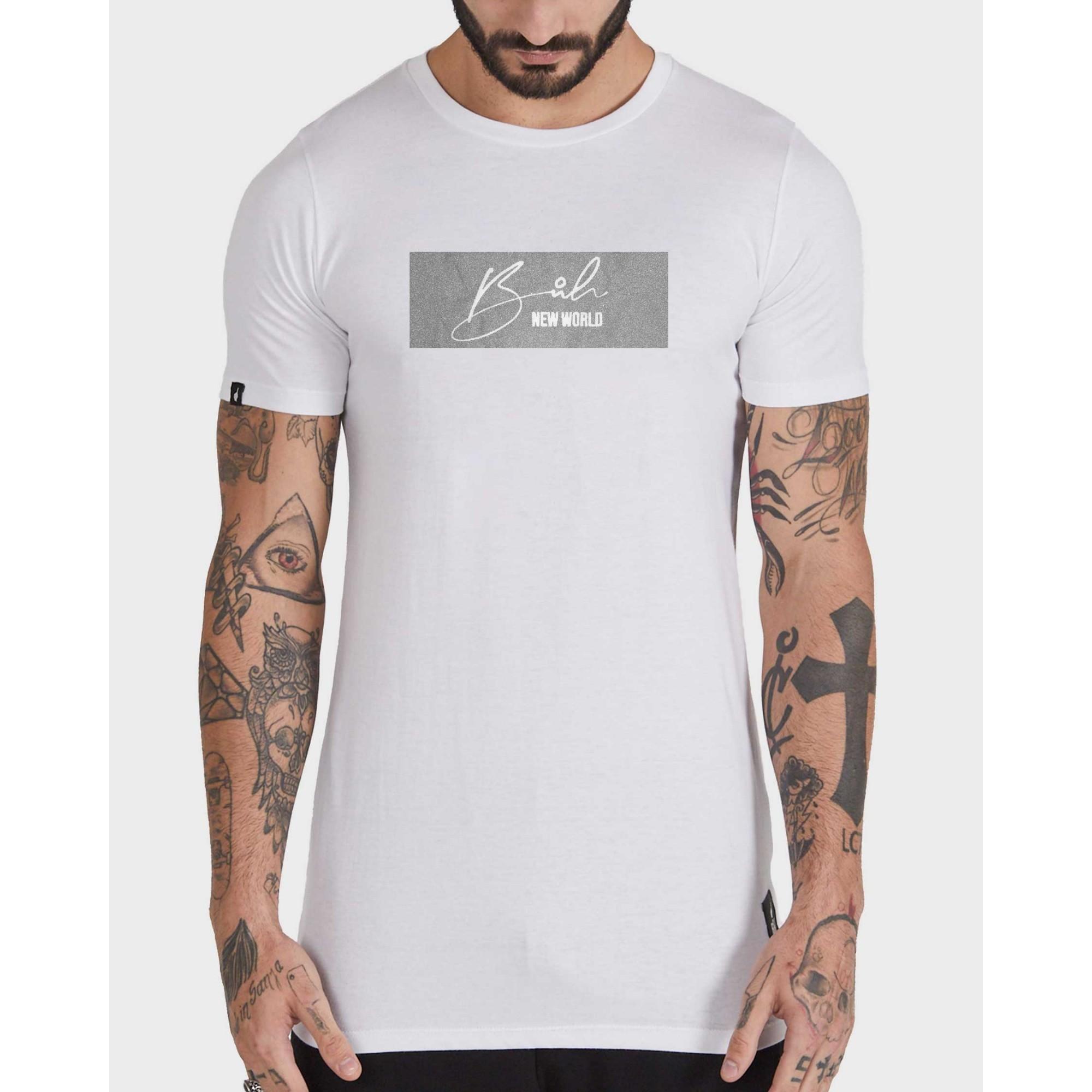 Camiseta Buh Glitter White & SIlver