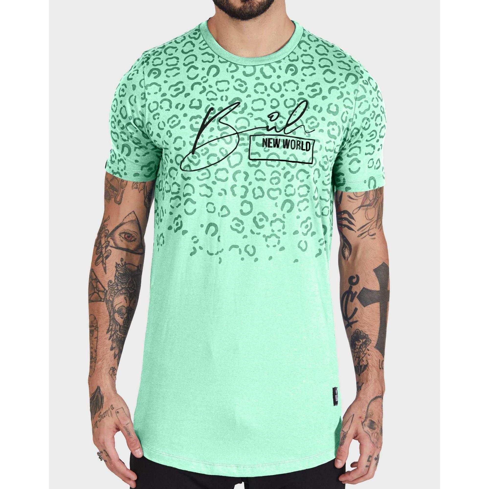 Camiseta Buh Leopard Green
